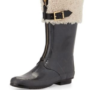 Burberry Sheepcote Shearling All-Weather Boots